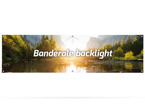 Banner backlight