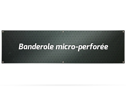 Banner micro-perforated