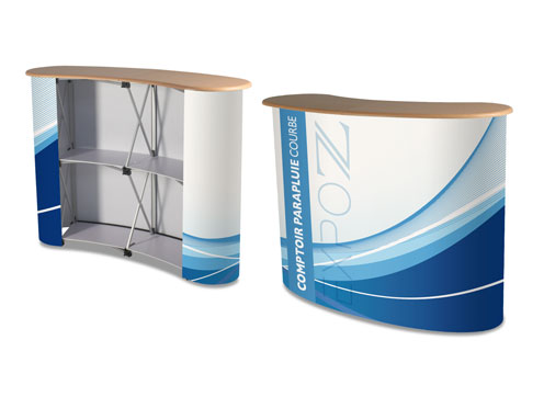 Trade fair counter curved