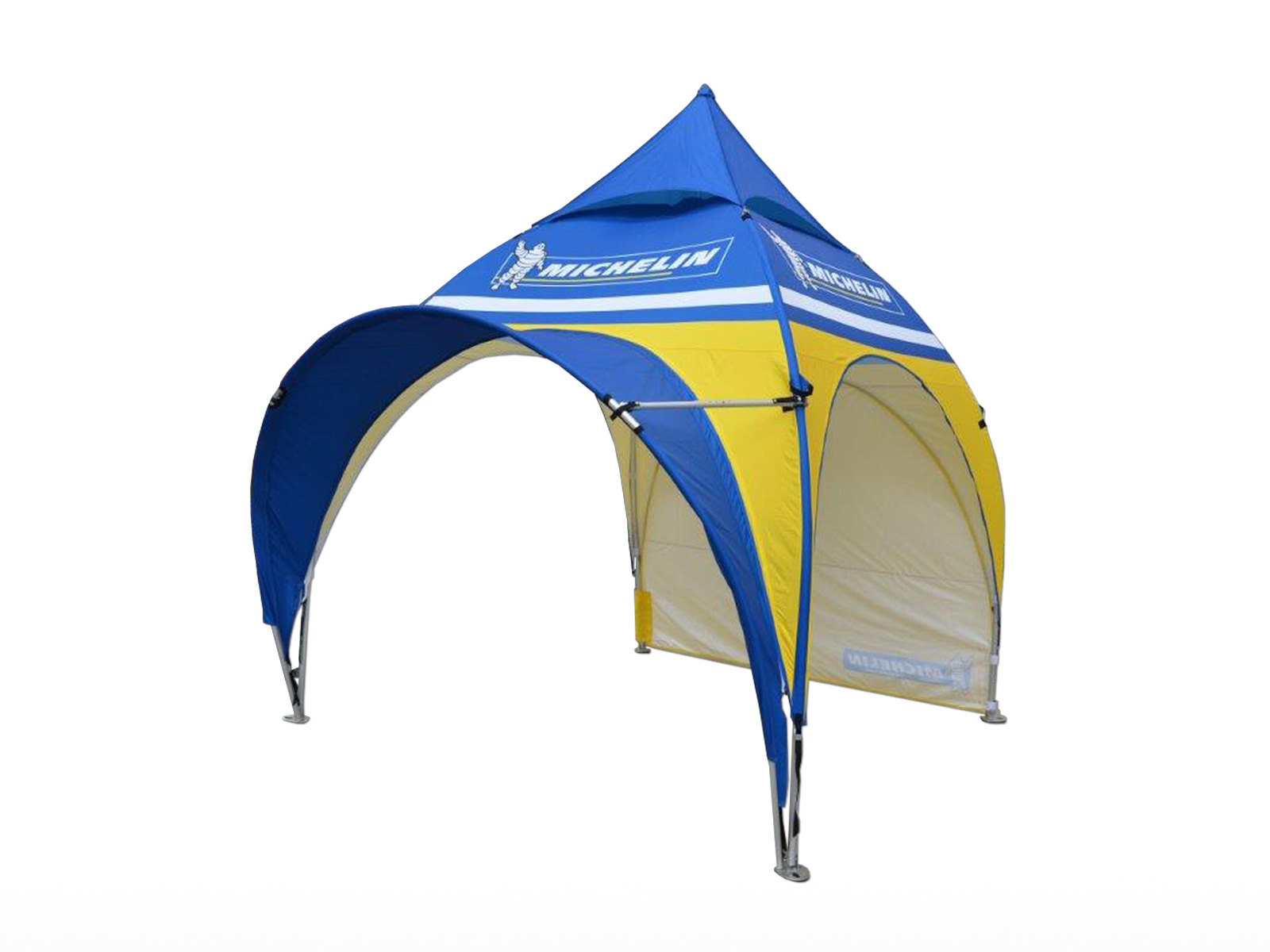 A folding tent called Expodôme with a very original shape