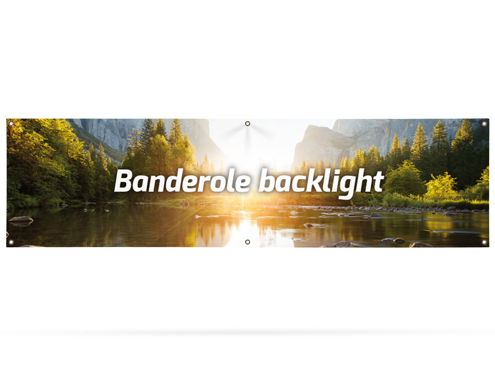 Banderole backlight 300x80 cm