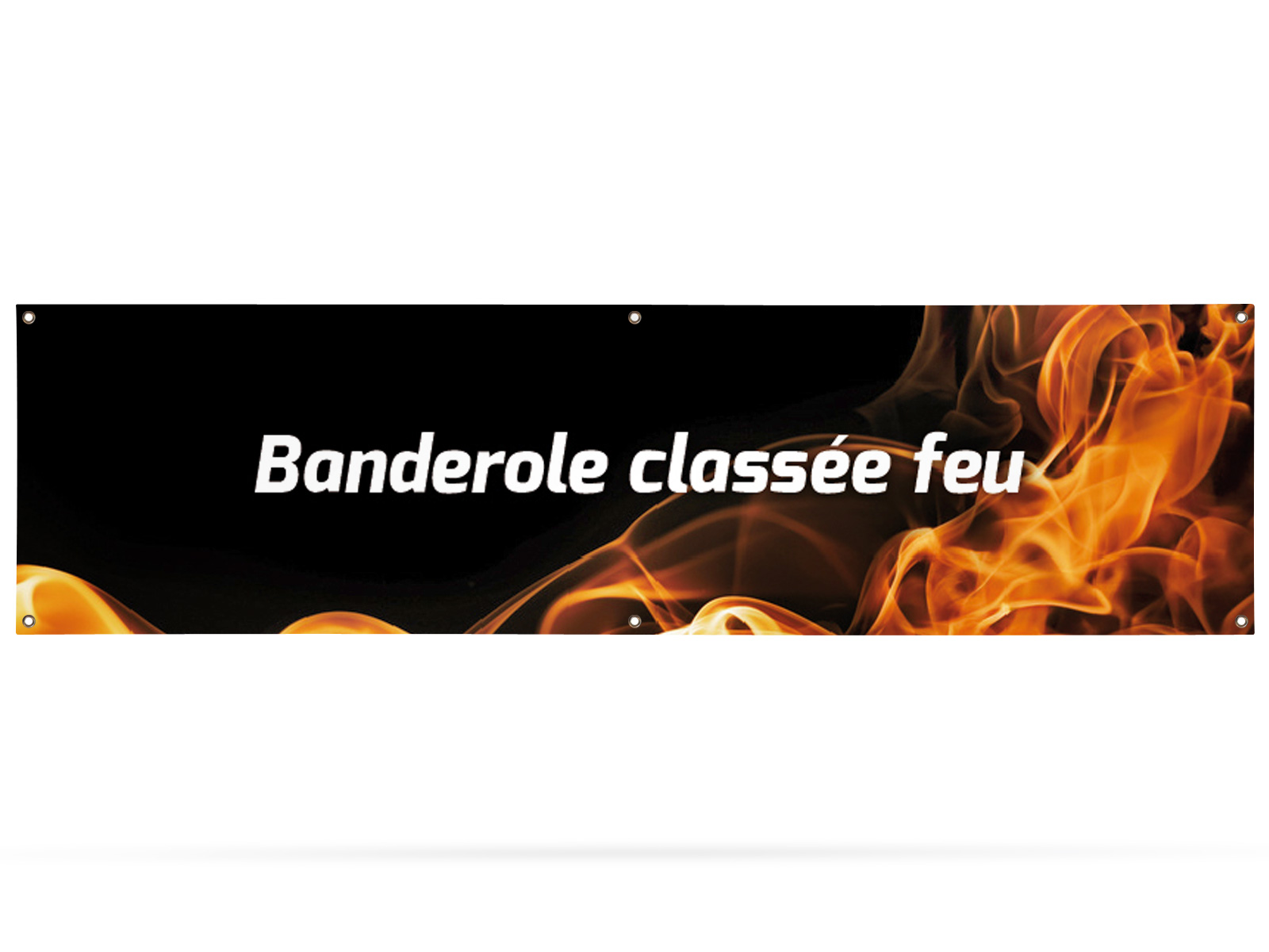 Banner classified fire resistant 300x80 cm
