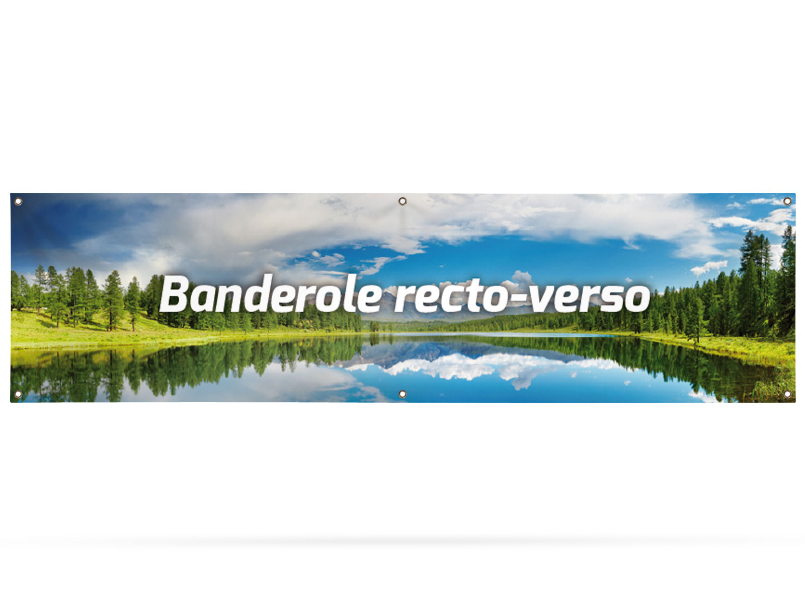 Banner double-sided 300x80 cm