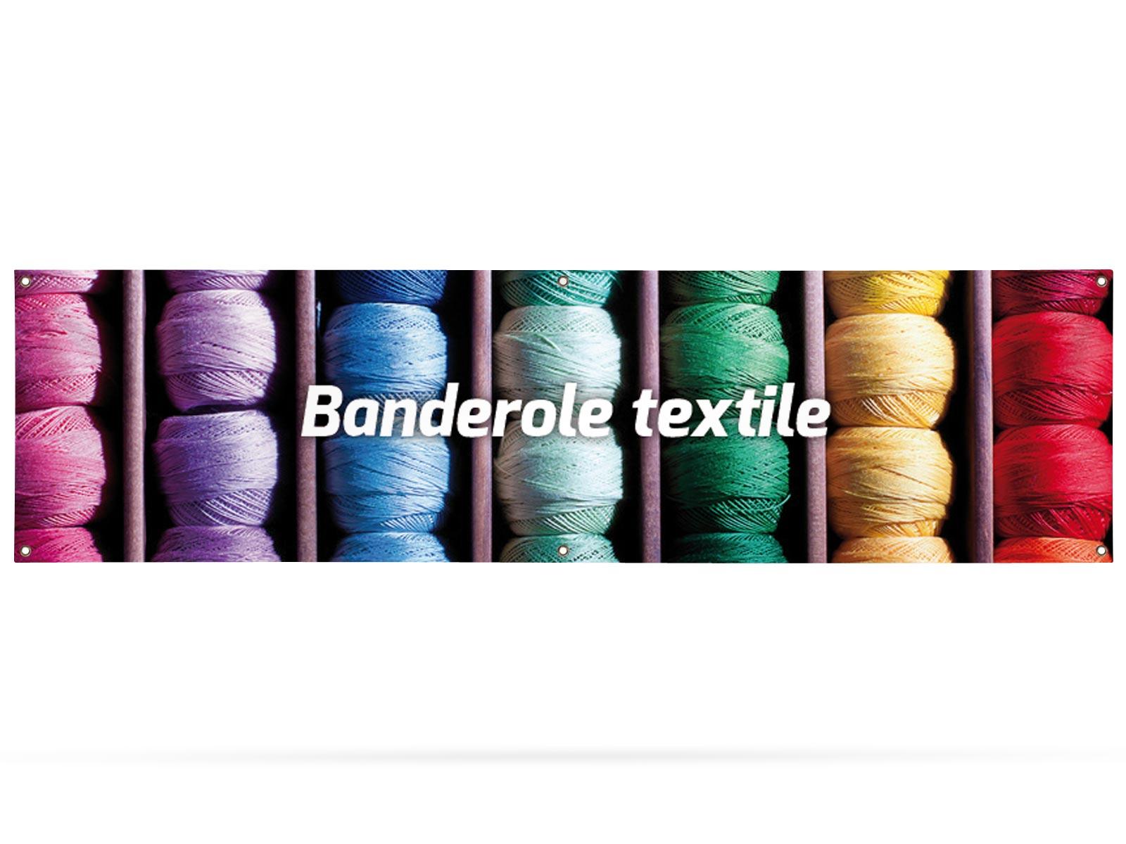 banderole textile 300 x 80 cm banderole expoz. Black Bedroom Furniture Sets. Home Design Ideas