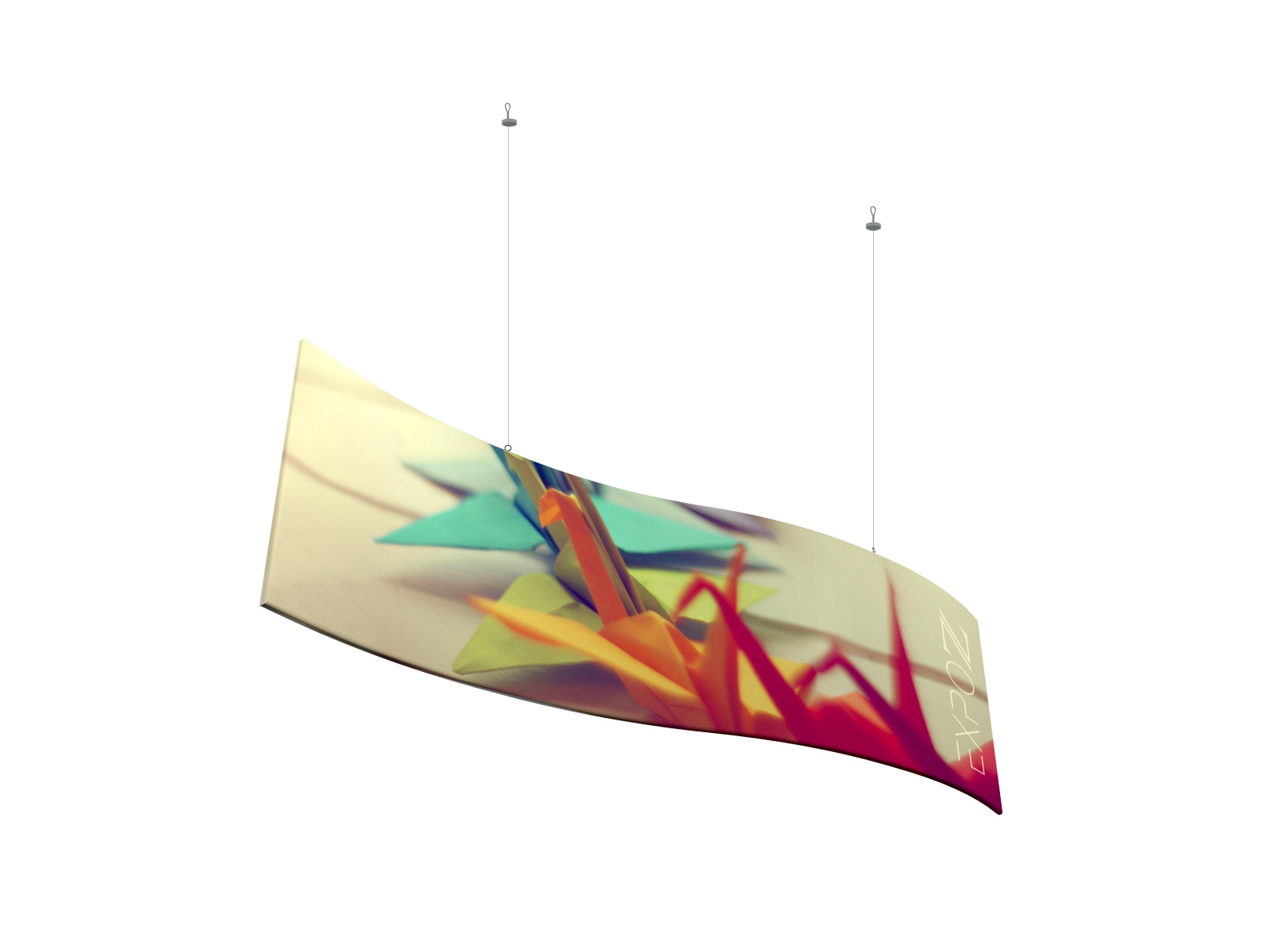 Suspended sign wave-shape 3 m