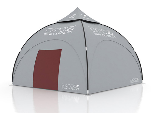 Wall standard + door - Expodome 6 m pour Expodome L