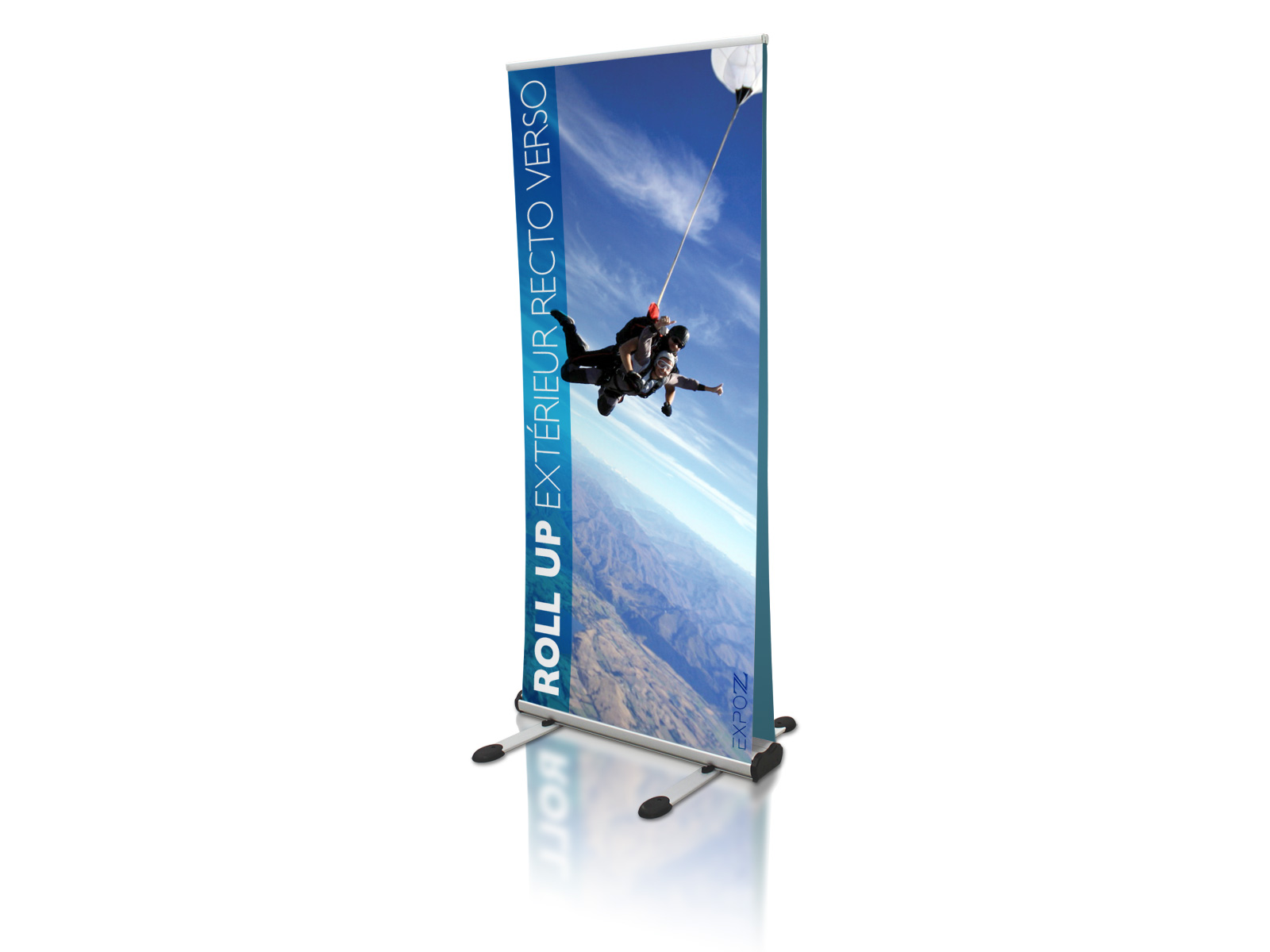 Roll-up Exterior recto-verso 85 x 200 cm