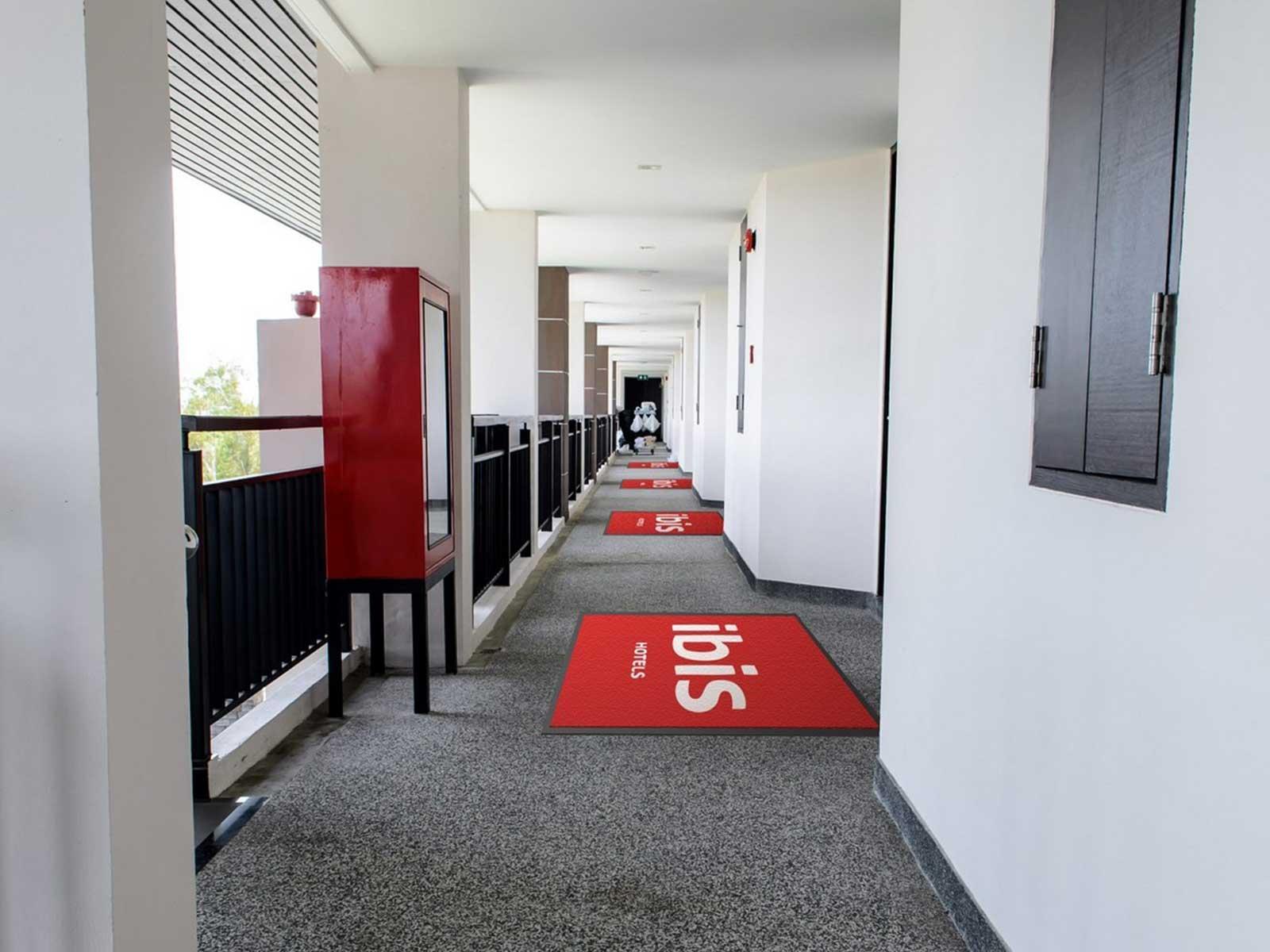 Tapis du0026#39;accueil patio 60 x 90 cm - Tapis publicitaire - Expoz