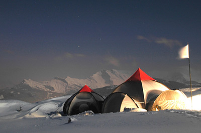 The Camp de Base Bivouac Experience - French Alps