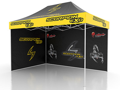 Tente Professionnelle 8 x 4 m Scorpion - Impression totale par sublimation