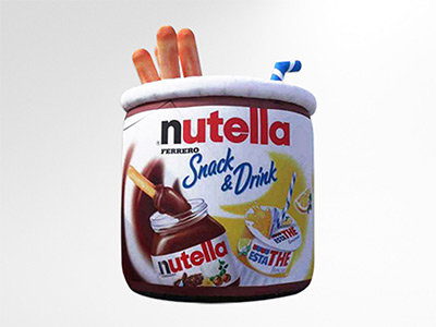 Pot Nutella gonflable géant